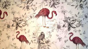 The Flamingo room Wallpaper